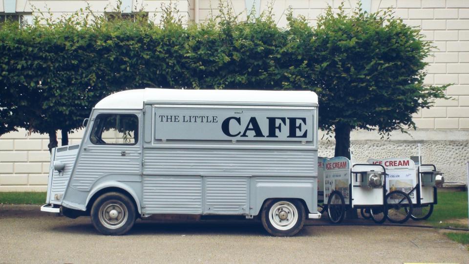 truck, cafe, ice cream