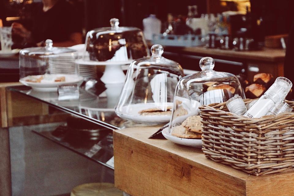 Coffee shop coffee food dessert sweets treats restaurant counter cafe