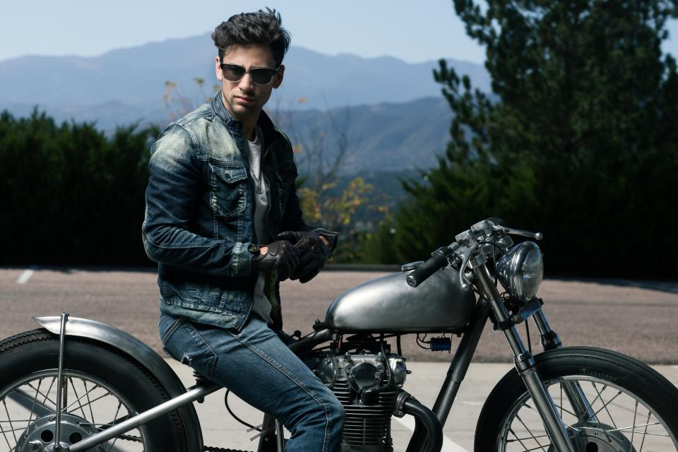 people, man, guy, sunglasses, motorcycle, travel, outdoor, landscape, view