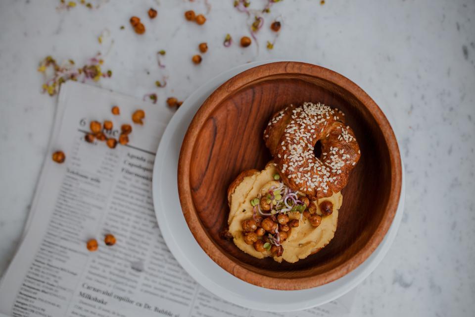 food bread breakfast snack restaurant eat table