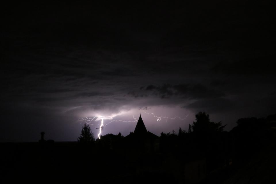 dark, night, silhouette, sky, cloud, lighting, lights