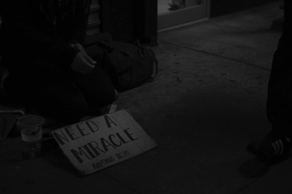 poor people homeless beggar street black and white