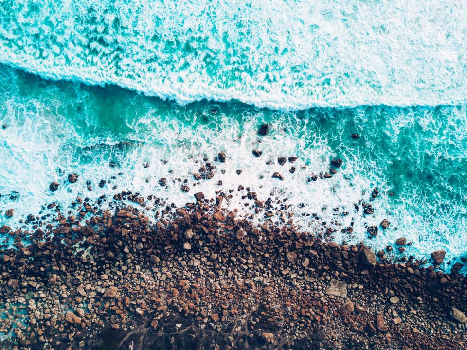 sea ocean blue water waves nature beach coast sand shore