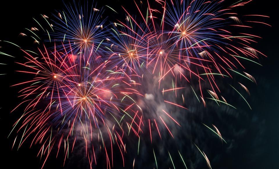 dark night fireworks light party celebration