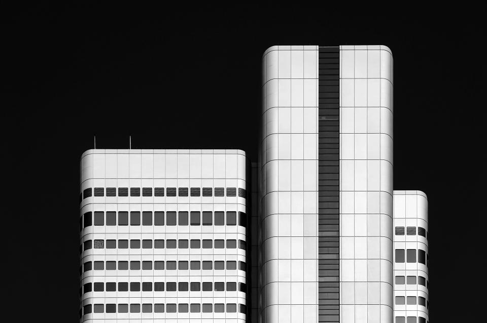 architecture building infrastructure black and white