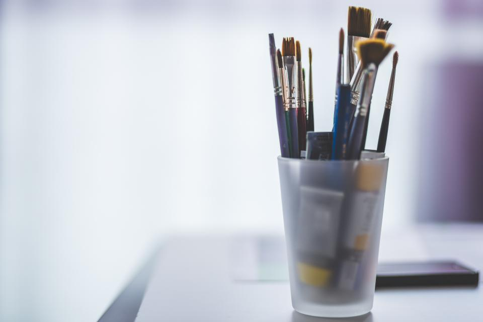 paint brushes art supplies artist
