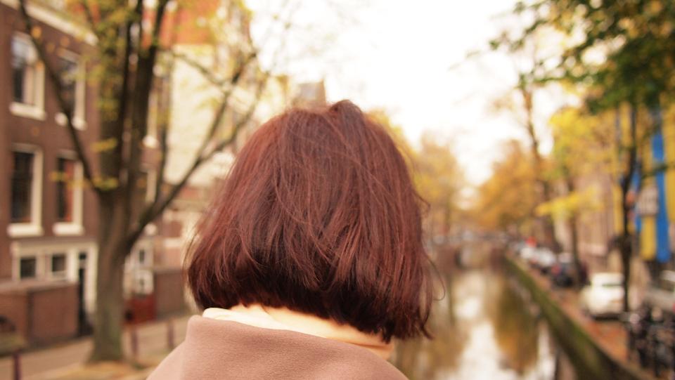 girl woman hair coat jacet fall autumn outdoors