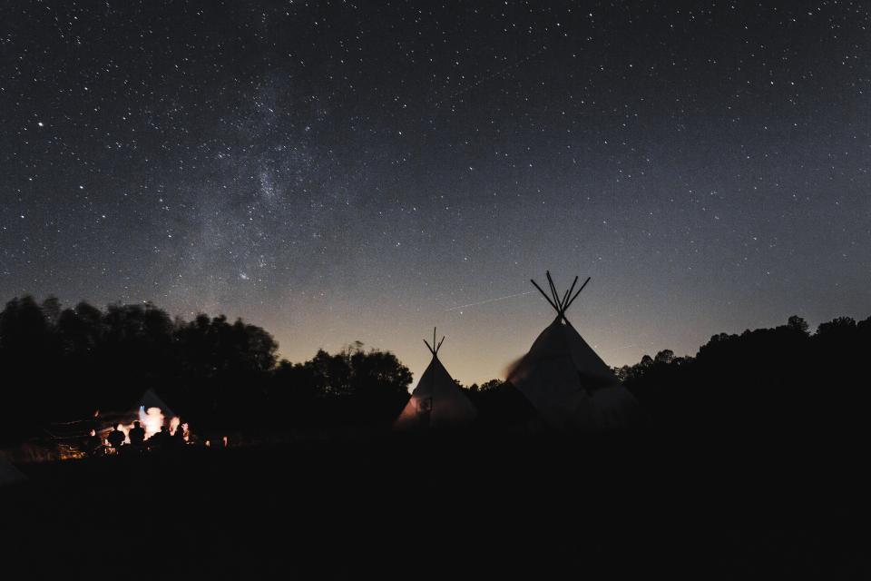 dark, night, sky, night, stars, tent, camping, adventure, outdoor