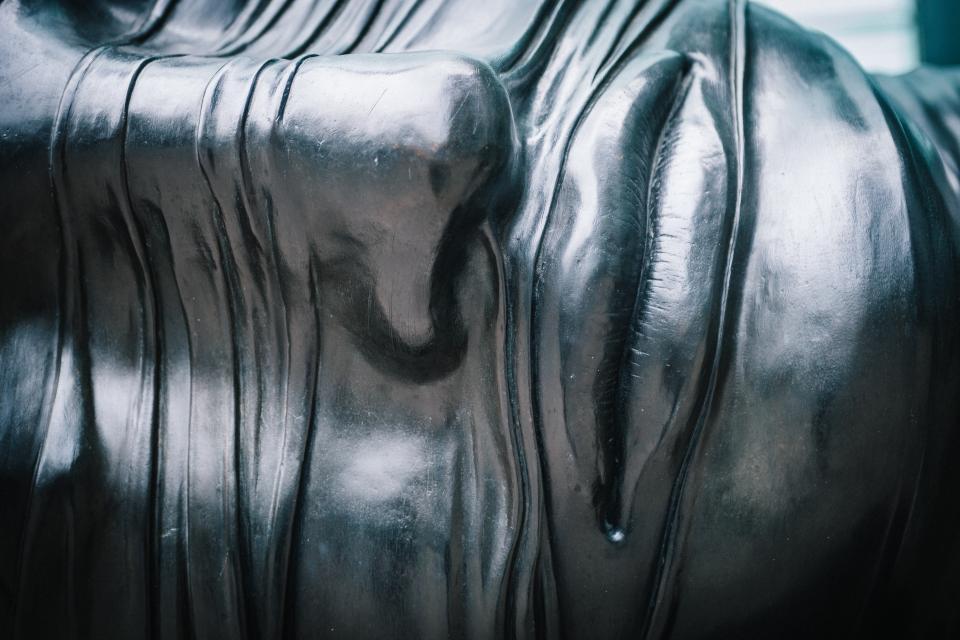 close up, silver, face, statue, sculpture, art