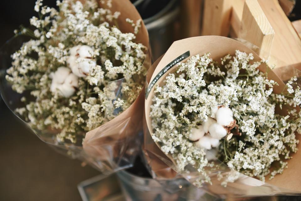 flowers, bouquet, gift, bunch, paper