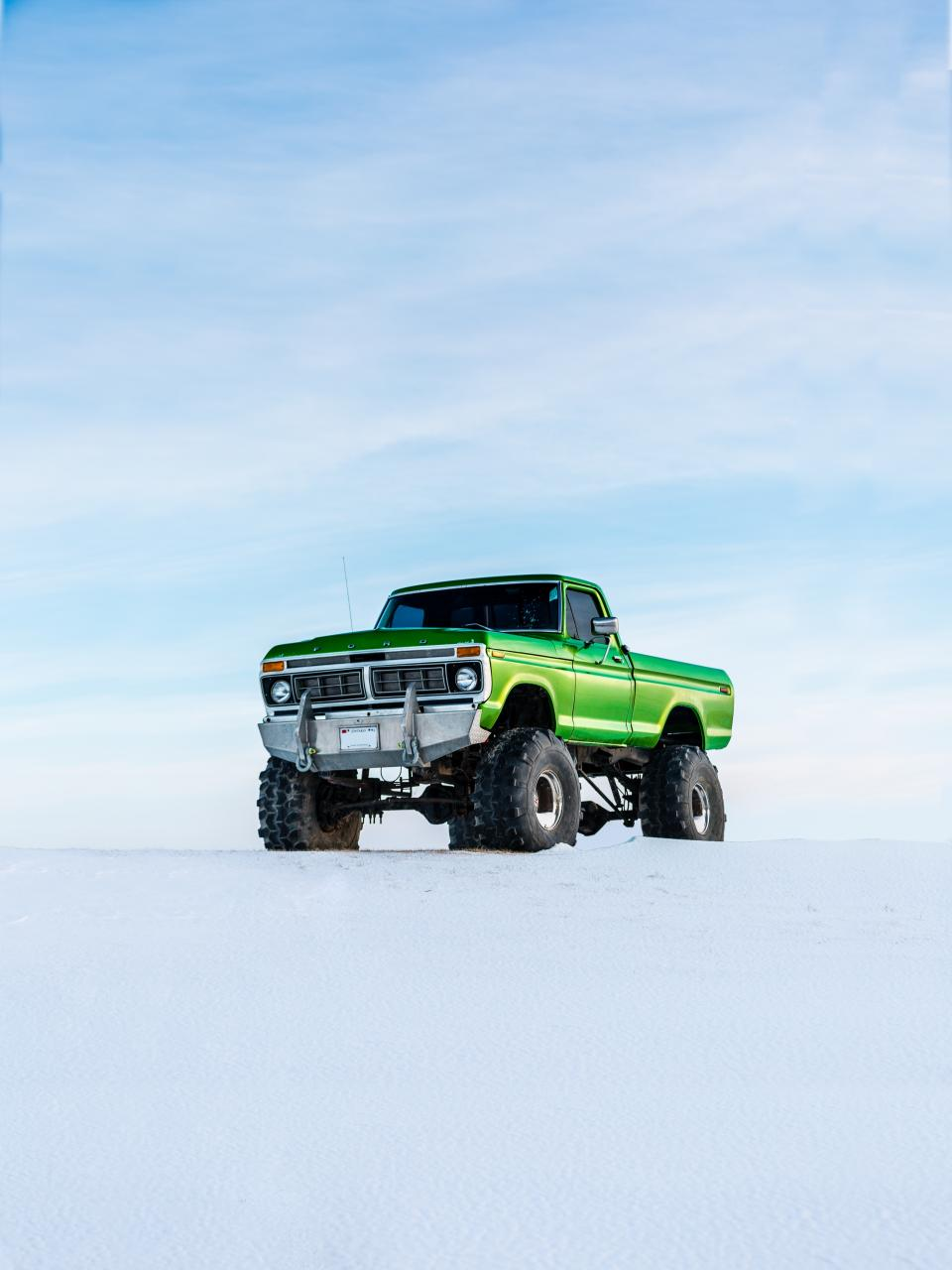 monster truck, 4x4, car, vehicle, transportation, travel, adventure, tires, pick up, snow, winter, cold, weather, white, clouds, sky
