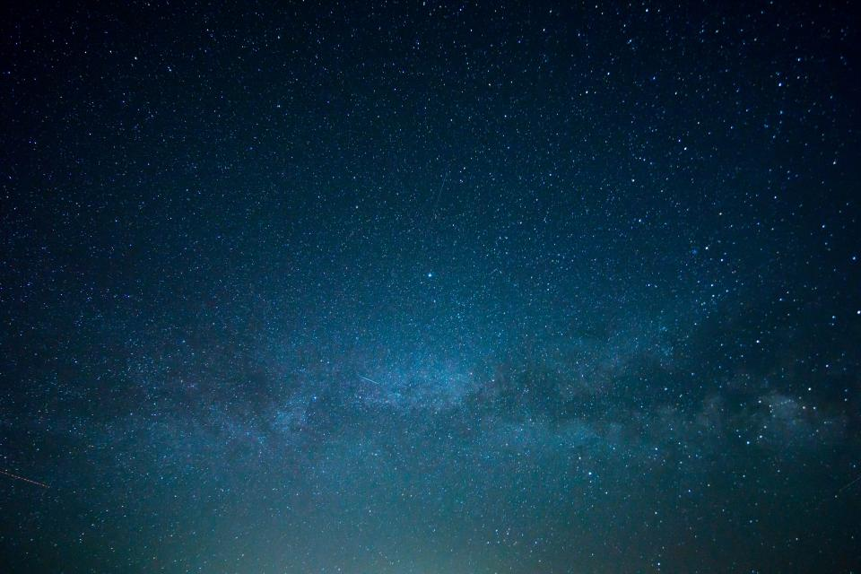 night, sky, stars, galaxy, space, dark, evening