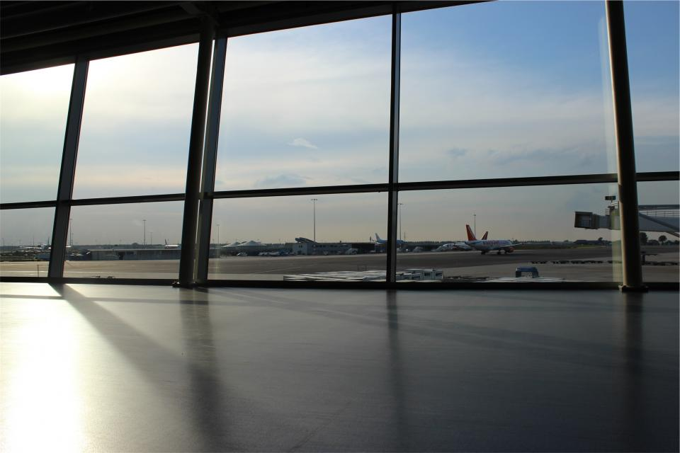 airport, airplanes, travel, transportation, windows