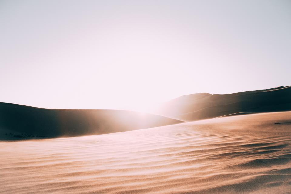 sunlight desert sand nature landscape mountain outdoor view environment peaceful