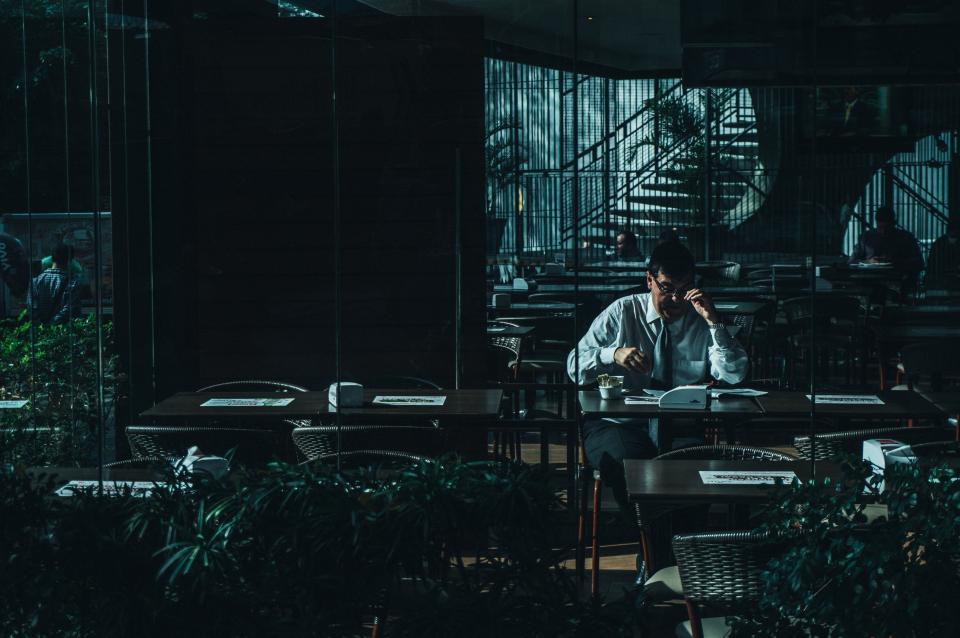 people, man, dark, shadow, alone, office, work, formal