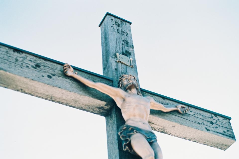 cross, crucified, jesus, passion of christ, crucifixion, inri, catholic, religion, item, handmade, sculpture