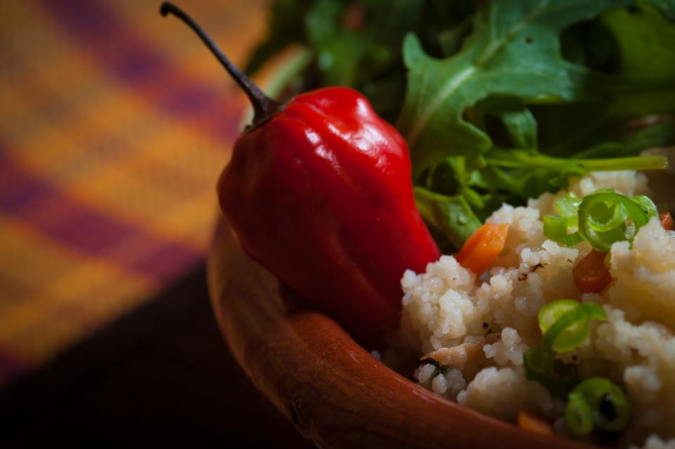 bell pepper ingredient spices rice green vegetable food