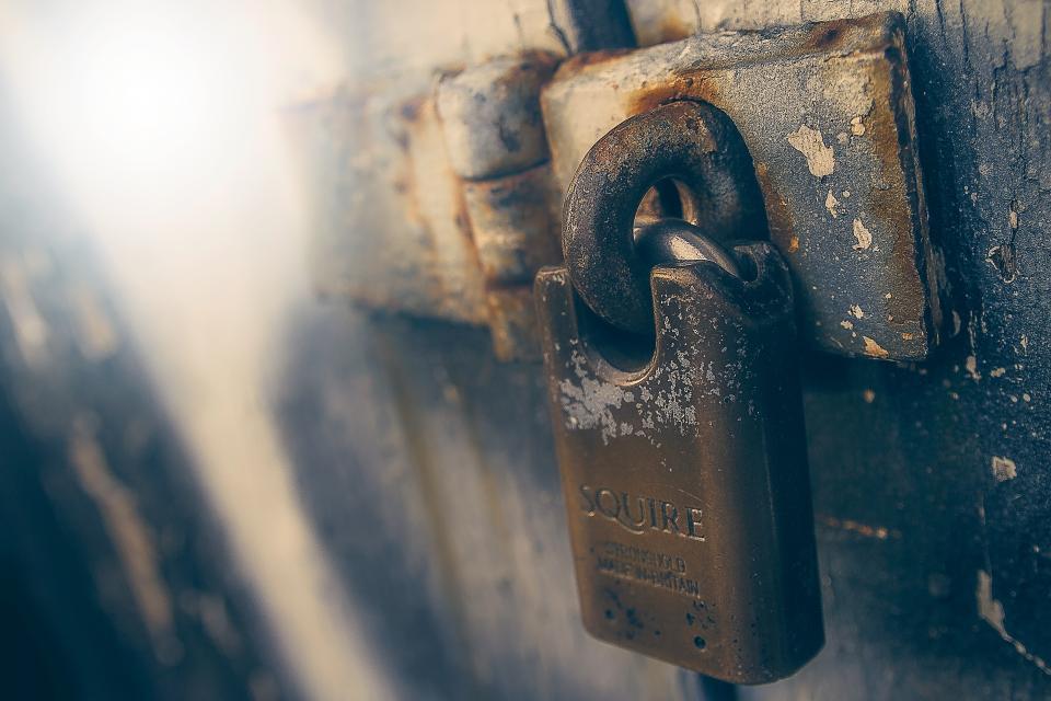 lock, rust, old, vintage, squire