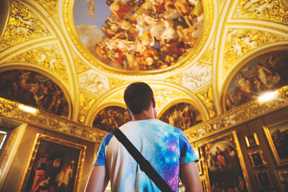 people, man, church, religion, sacred, holy, painting, art, design, architecture, establishment, structure, building, catholic