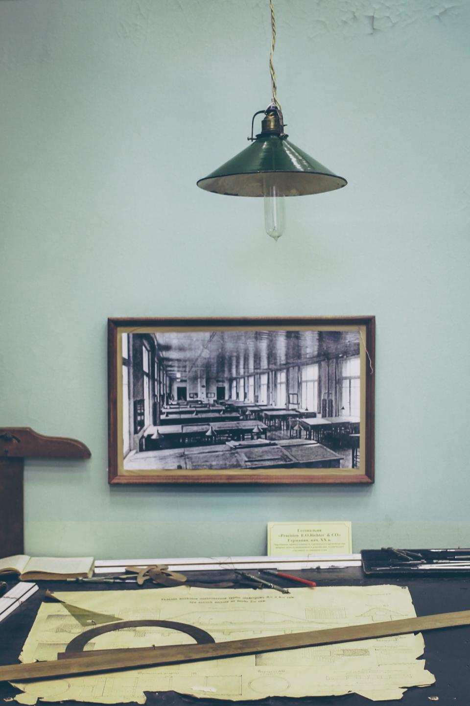 vintage desk ruler tools oldschool office painting frame objects