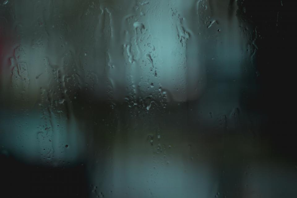 rain, dark, night, drops, water, mirror, glass
