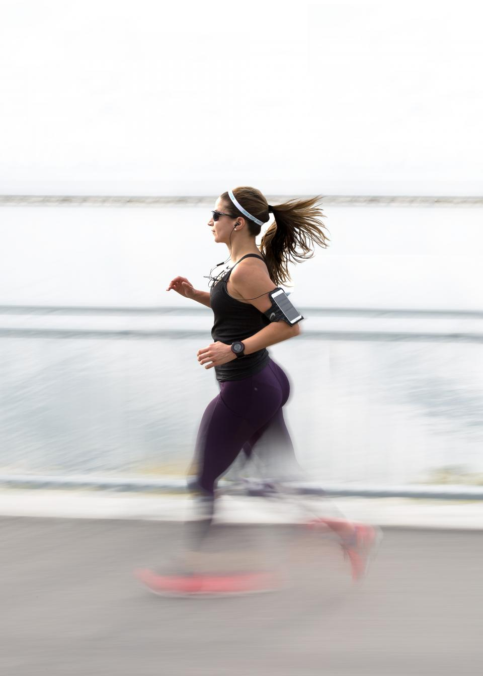 people, woman, running, exercise, health, fitness, mobile, phone, modern, technology, earphone, sounds, watch