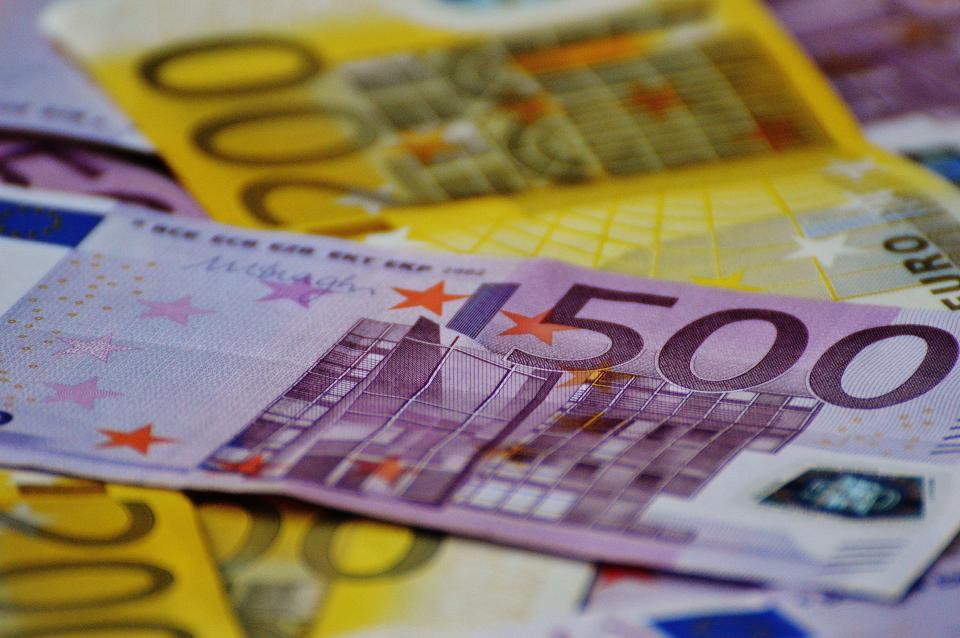 money, bills, notes, euros, finance, bank note, cash