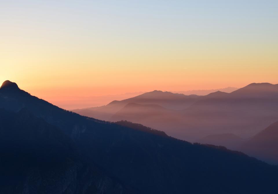 sunset sky cloud mountain landscape nature outdoor dark silhouette