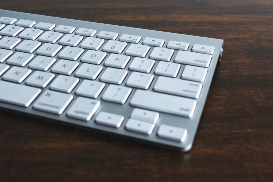 keyboard business office desk technology objects