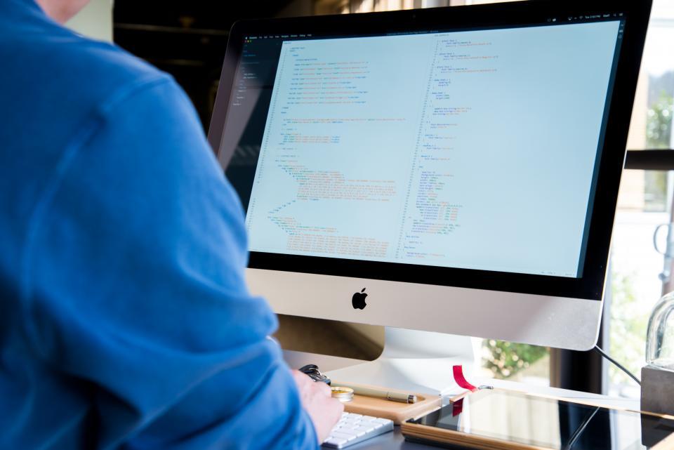 computer mac apple programming coding programmer designer technology business office desk working code