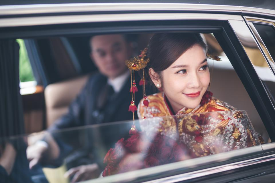 car vehicle ride asian people female male man blur woman smile happy wedding makeup hairstyle