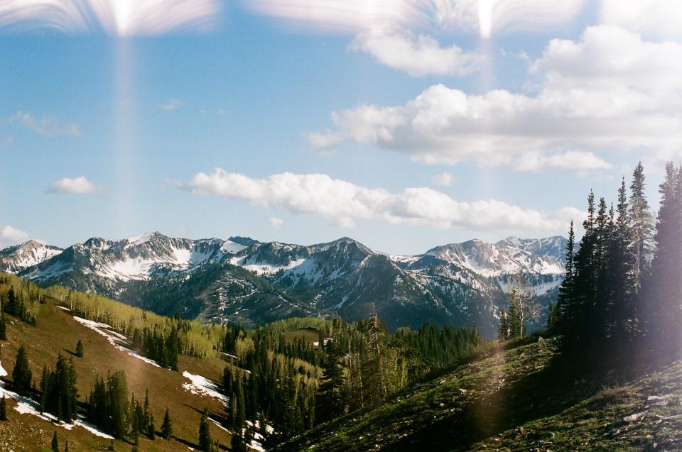 nature, landscape, mountain, clouds, sky, grass, field, travel, adventure, trek, trees