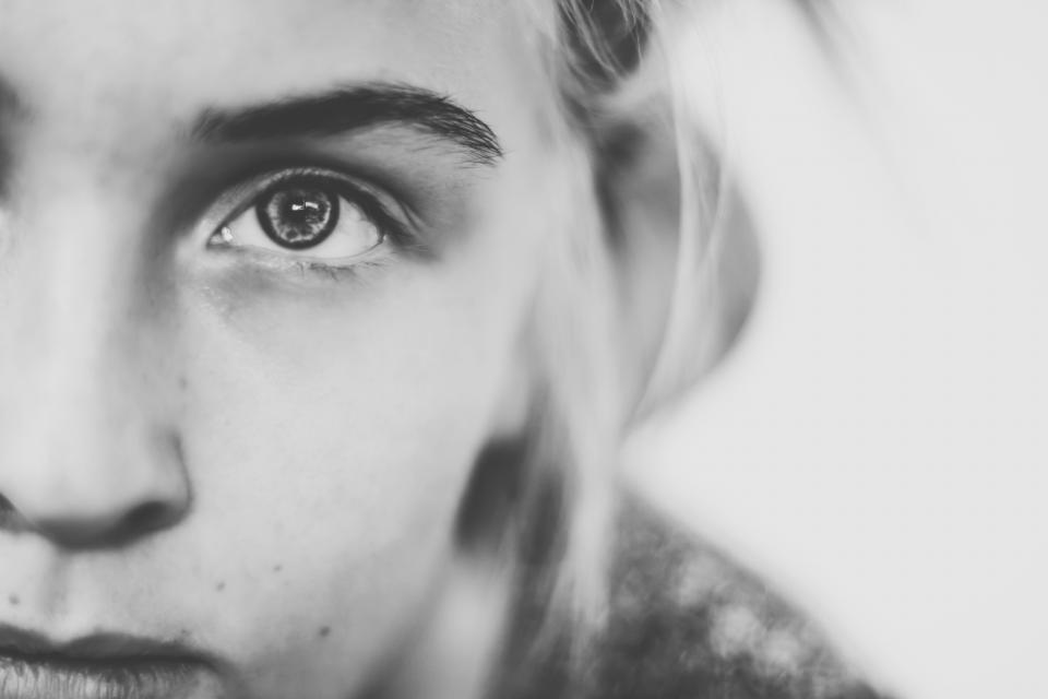 girl woman face eyes face model people black and white pretty beautiful