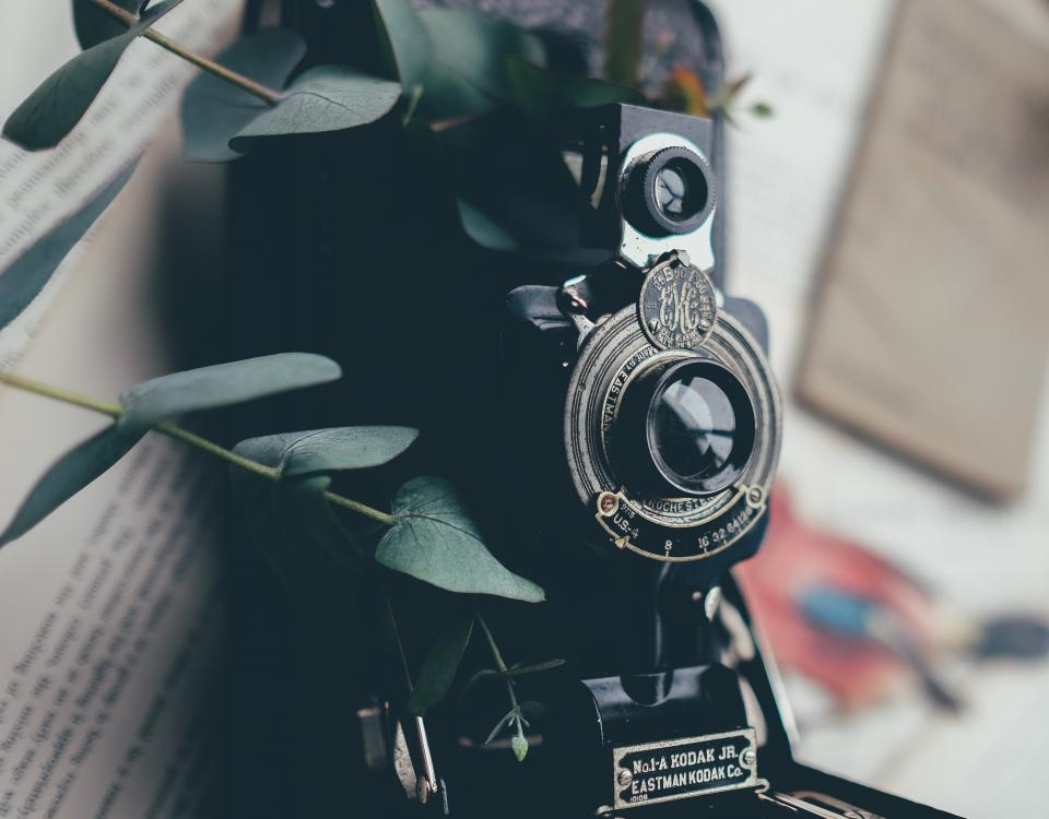 camera, leaves, lens, black, bokeh, flash, kodak, old, notes, object, photography