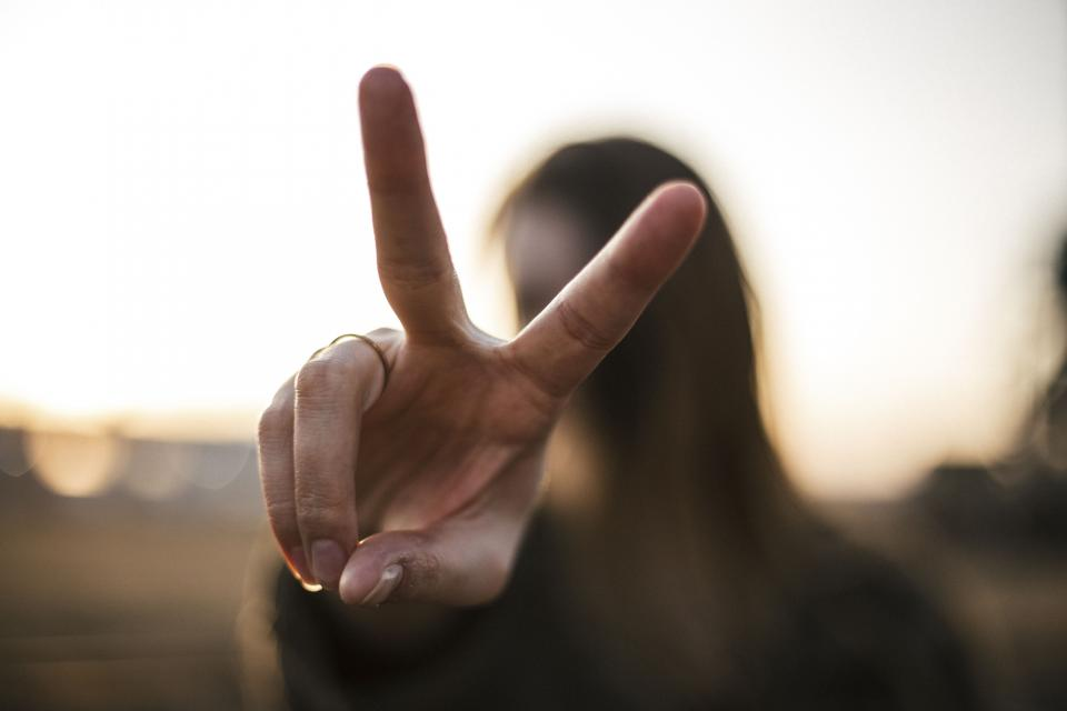 people woman fingers hands peace