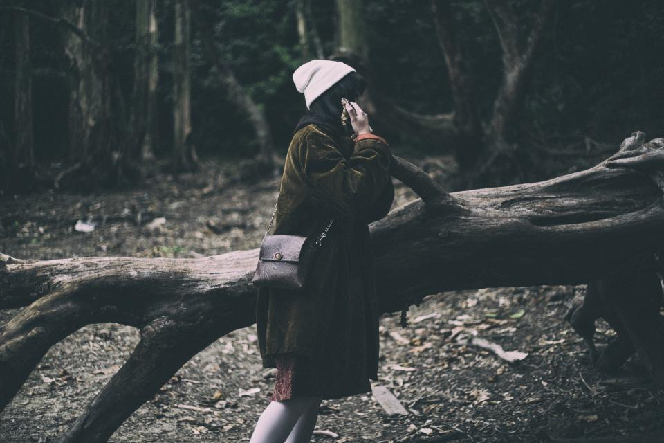 tree, branch, nature, outdoor, forest, travel, people, girl, female, sad, alone