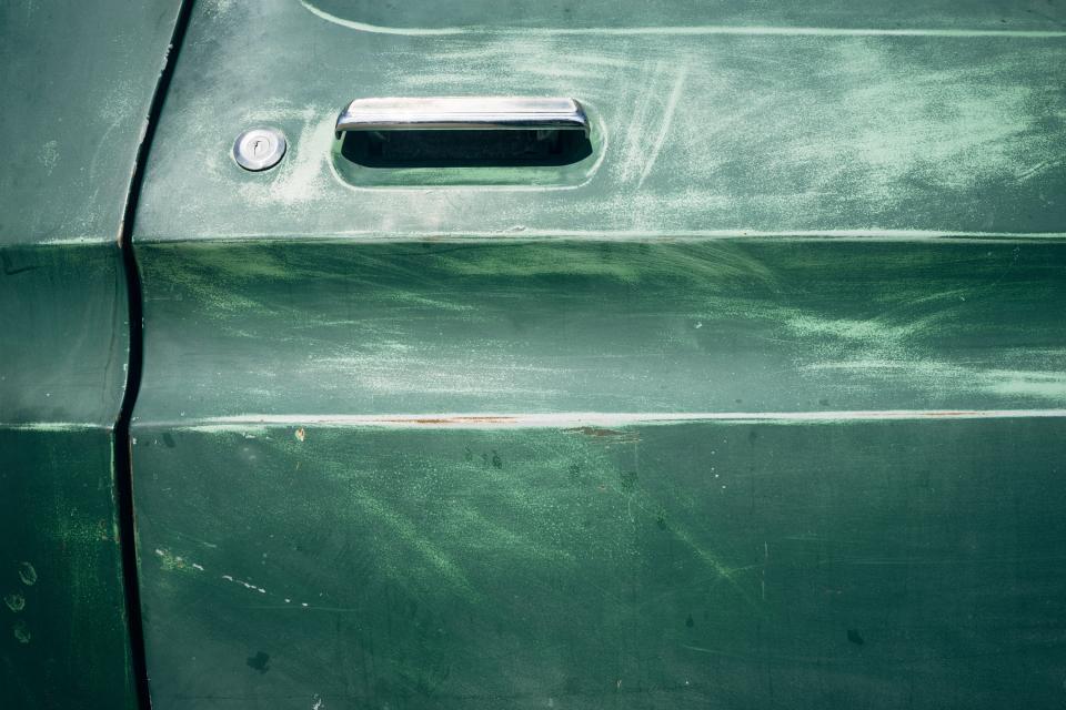 green, car, door, handle, lock