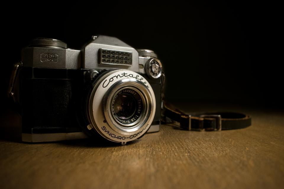 camera, lens, photography, photo, photographer, vintage, old, film, strap