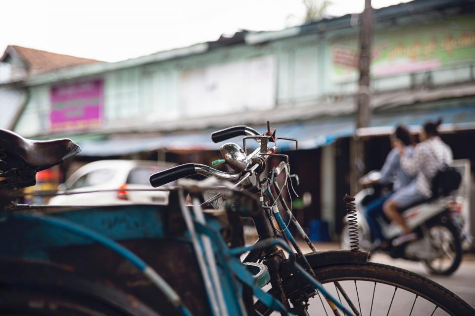 bicycle, rusty, old, bokeh, handle, bike, sport, people, blur, motorcycle