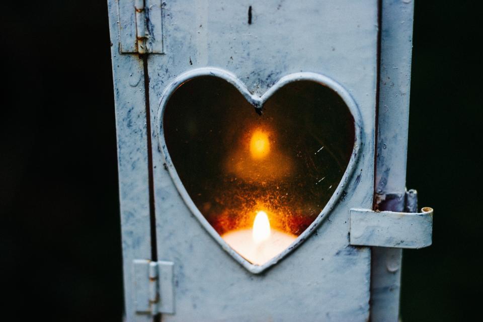 heart, art, design, lock, fire, candle, spark