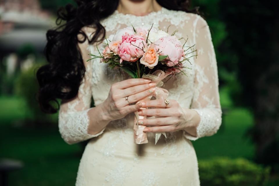 wedding, marriage, bride, flowers, bouquet, dress, ring