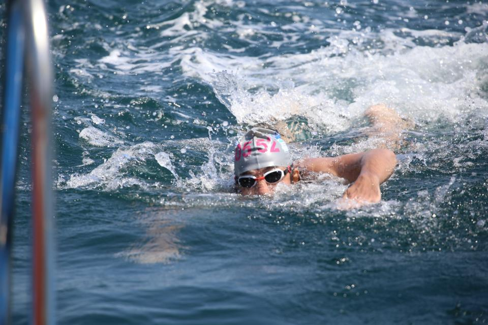 sea, ocean, water, people, swimming, man, swimmer, sport, game