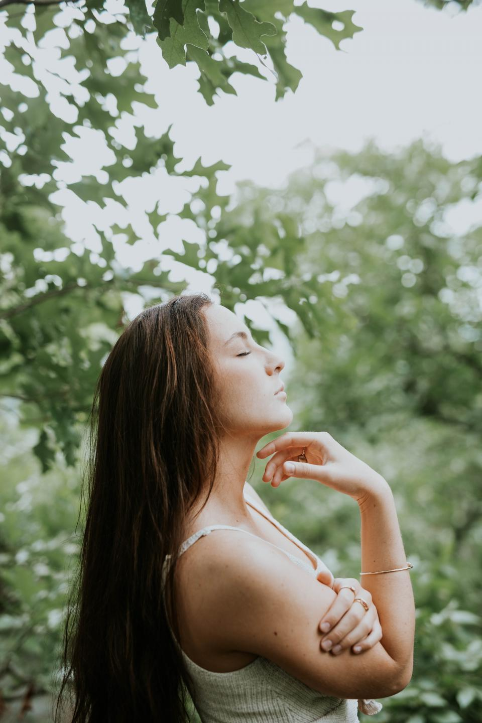 people, girl, woman, hair, beauty, outdoor, nature, mediation, relax, health