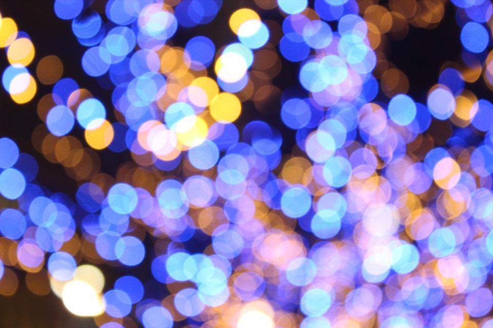 bokeh colorful lights