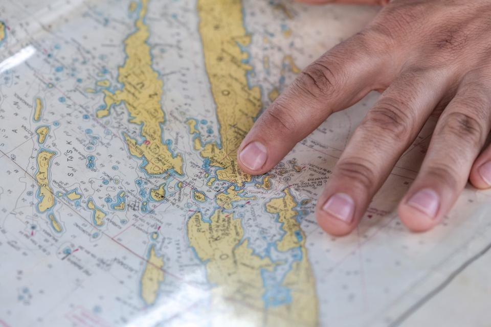 map navigation travel trip hands fingers directions