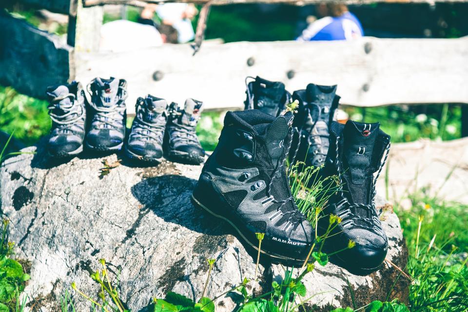 shoes outdoors grass rocks