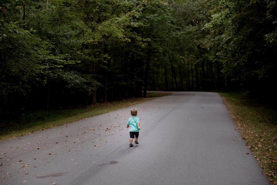 road, path, people, kid, baby, kid, walking, trees, plant, nature, outdoor, forest, travel
