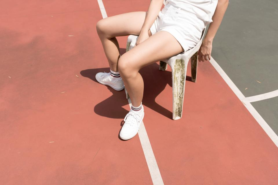 tennis, court, people, white, lifestyle, socks, sneakers