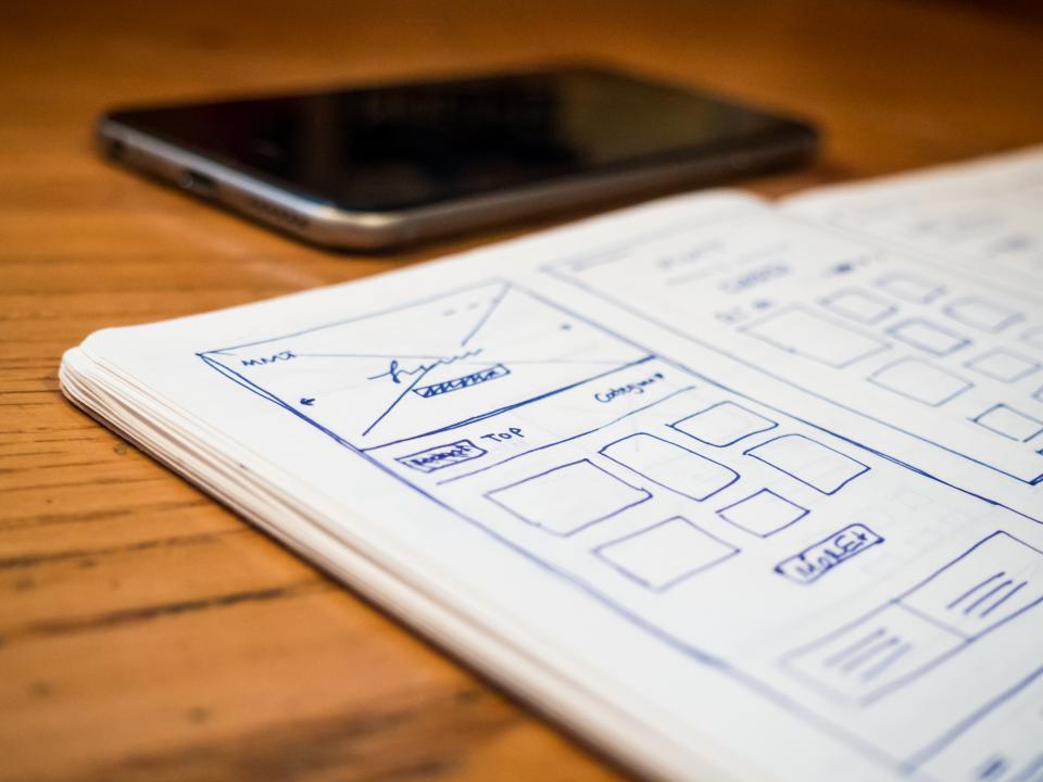 notebook notepad mockups design creative business office desk work sketch iphone mobile technology