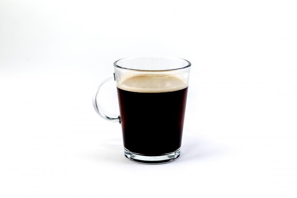 ガラス醸造コーヒーホットドリンク